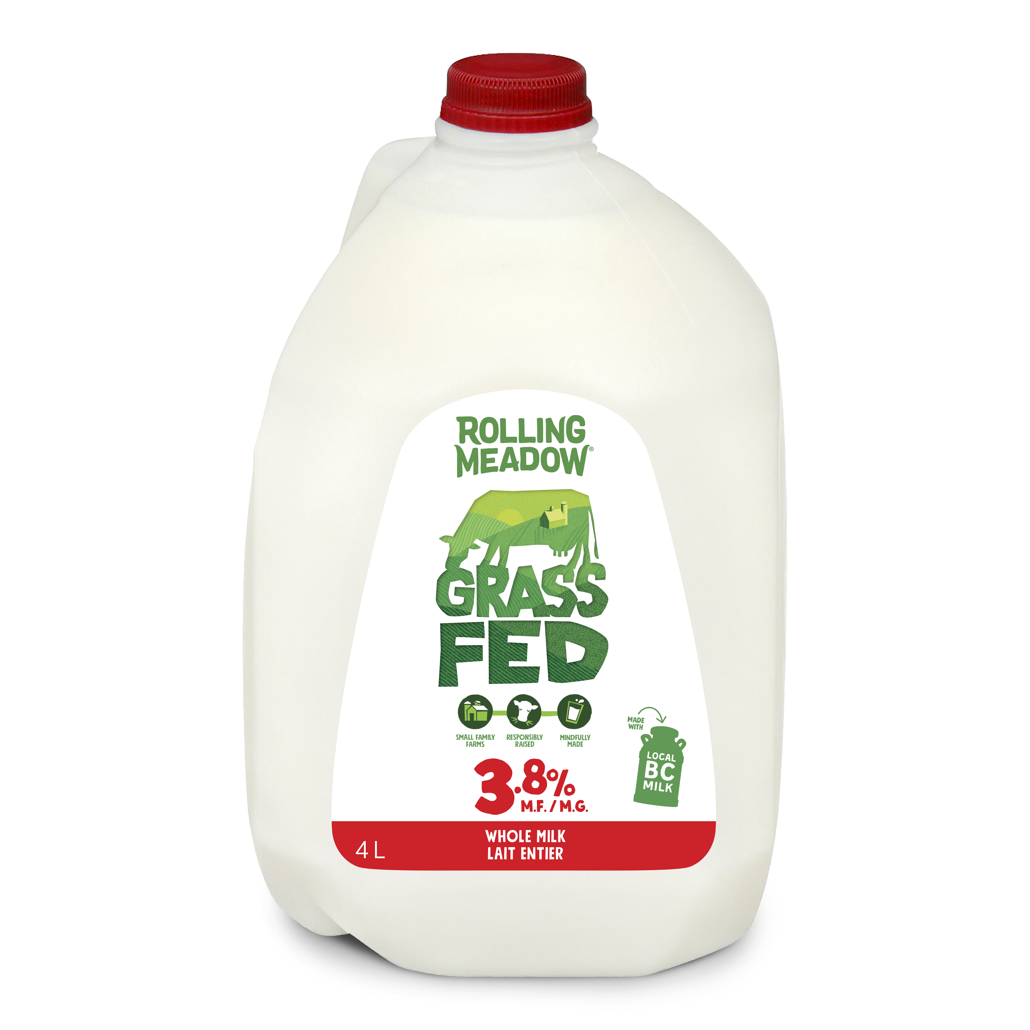 3.8% Milk - 4L